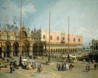 "Canaletto : ""The Square of Saint Mark's, Venice"" (1742/1744) - Giclee Fine Art Print"