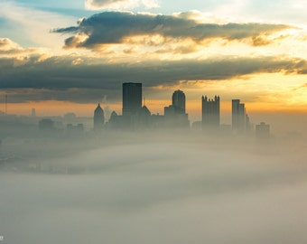 Rising from the Fog | Pittsburgh at Sunrise
