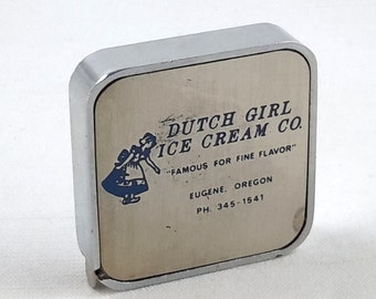 Barlow tape Measure Dutch Girl Ice Cream Eugene, Oregon Advertising Memorabilia