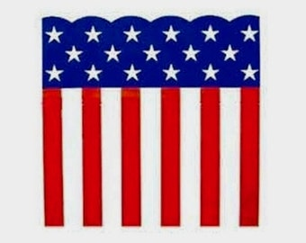 """Bunting Roll ~ Patriotic Stars & Stripes ~ Plastic ~ 29"""" wide X 150 ft or 300 ft long ~ Elections, Campaigns, July 4th"""
