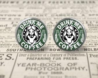 Alice Starbucks Earrings or Ring