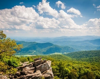 View of the Blue Ridge from North Marshall in Shenandoah National Park, Virginia.   Photo Print, Stretched Canvas, or Metal Print.