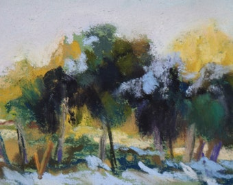 Snow Dust - 2 /12 x 3 1/2 - ACEO - Pastel