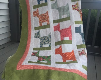 """Finished Quilt Top Ready to Quilt measuring approximately 36"""" x 37"""" in Moda Bread N Butter fabrics"""