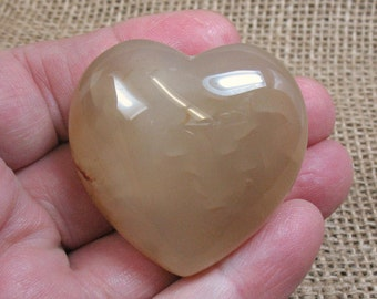 Carnelian Puffed Heart, 45 mm - Item 73957