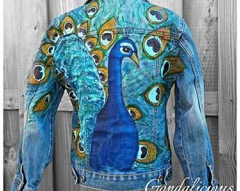 Embellished KIDS Jacket Coat *PEACOCK* Boho 4-5 Y