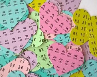 JW Gifts - jw.org paper hearts, set of 96