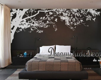 Wall Decals Nursery Wall Decals Corner Top Tree Branch Leafy Tree Branch  Decals Wall