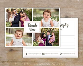 Thank you card template - 5x7 photography thank you card template - Thankyou Card Template