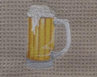 Beer Mug Hand Towel - Beige