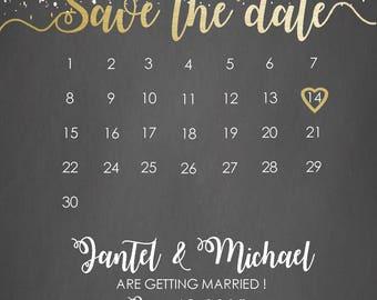 4 x 6 Customized Wedding Save the Date - DIGITAL FILE