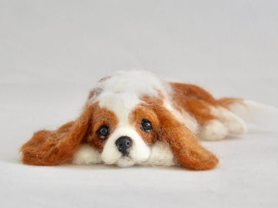 READY TO SHIP/ Needle Felted / Cavalier King Charles Spaniel /Blenheim[HiMeg/Etsy]