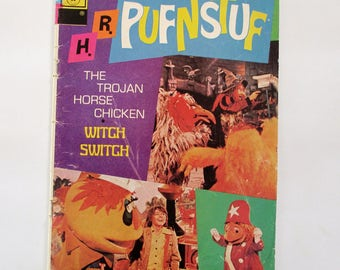 H. R. PUFNSTUF #8 The Trojan Horse Chicken Witch Switch Comic Book released  July 1, 1972  Final Issue Photo Cover Sid Marty Krofft TV show