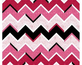 Mini Cosmic Waves - Paper Piecing Block 7 sizes PDF Pattern