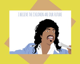 Funny baby card - Coming to America card - Randy Watson - Sexual Chocolate