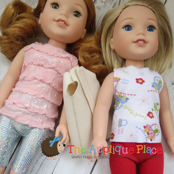 Items similar to doll clothing pattern in the hoop ith