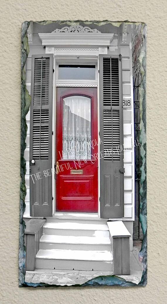 New Orleans Door 1506 Slate New Orleans Art Slate Art