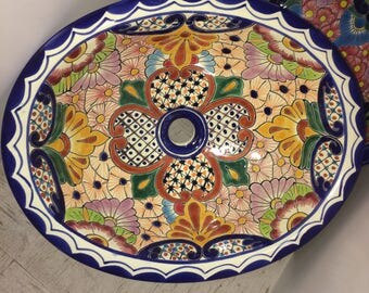 Beautiful Talavera Sink - Free Shipping