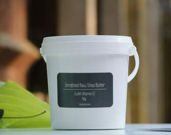 African Unrefined Raw Shea Butter With Vitamin E. 1kg