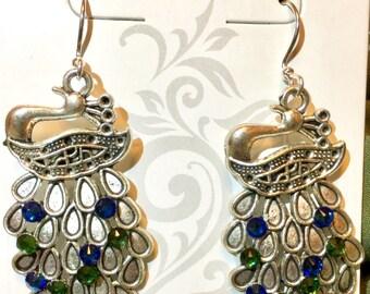 Swarovski Peacock Earrings