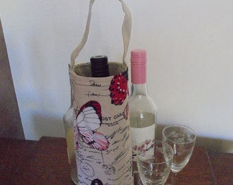 Butterfly wine tote