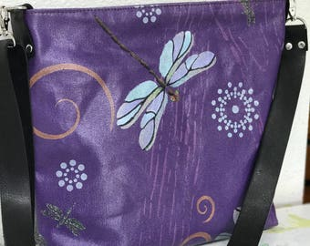 Dragonflies, Hand Painted, Crossbody Bag
