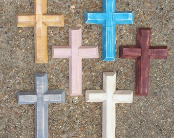 Painted Wooden Cross - Small