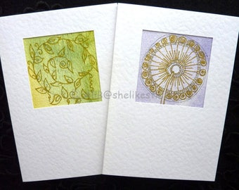 Original handmade cards watercolour abstract art cards blank greeting cards with envelopes