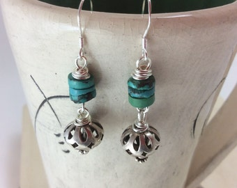 Dangle Drop Bead Earrings