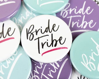 Hen party badges, Hen do accessories, Bride badges, Bride tribe badge