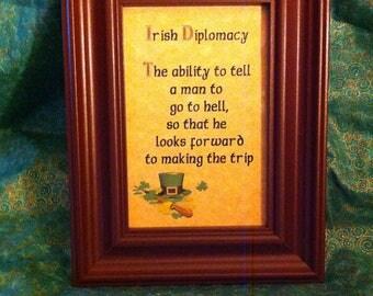 Irish Diplomacy Frame