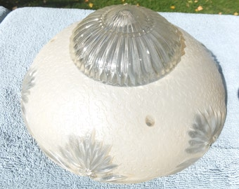 Beautiful Vintage Ceiling Light Cover-Sunflowers
