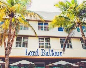"""South Beach, Miami Photography, South Beach Hotel, Miami Beach Print, Florida, Wall Art, South Beach Print, South Beach Art - """"Lord Balfour"""""""