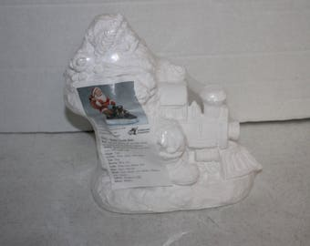 California Creations Ready To Paint Figure #94322 Santa's Train Ride Sealed