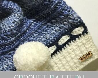 Crochet Pattern // Carla Ear Flap Slouch // Easy