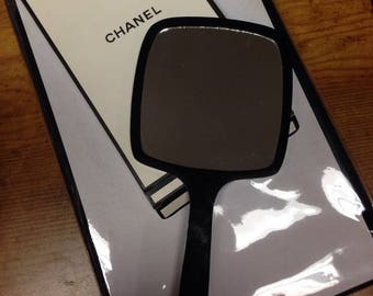CHANEL VIP smaller hand held mirror in box
