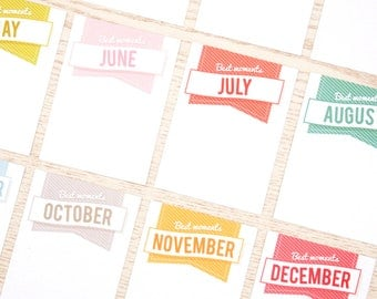 Best Moments Project Life 3x4 Journal Cards, Planner Cards, Paper Cards, Flat Filofax cards, Note Cards for Pocket Scrapbooking