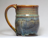 10oz handmade pottery mug, ceramic mug, pttery coffee mug
