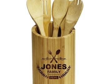 Kitchen Utensil Holder, Silverware Caddy, Kitchen Gifts, Personalized Kitchen Items, Kitchen Utensil Décor Kitchen Tools Kitchen Tool Holder