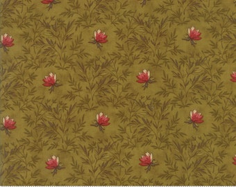 Moda - Sweet Cherry Wine Leaves Green 2783 15 by Blackbird Designs - Quilt, Quilting, Clothing, Crafts