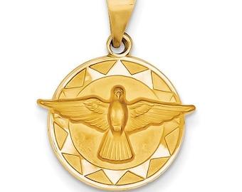 Holy Spirit Medal Round Pendant (JC-1162)