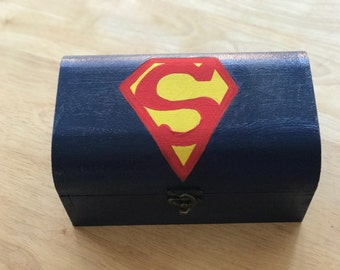 Superman inspired treasure chest box