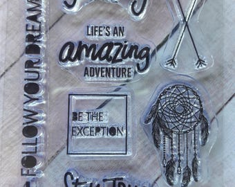 Inspiration Plastic Clear Cling Stamps Scrapbooking & Stamping Supplies