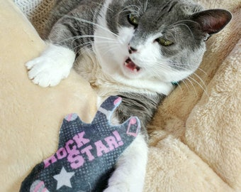 Rockstar Guitar Cat Toys, Felt Catnip Toys, Valerian Toys, Silver Vine, Kitten Toys, Fun Cat Toys, Handmade Cat Toys