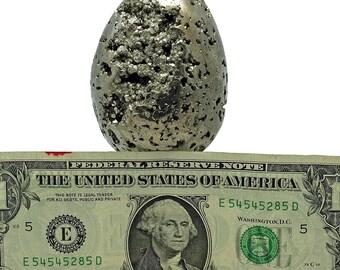Iron Pyrite Egg Cluster - Fool's Gold Sample - 415 grams - PYR101EGG