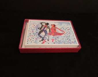 10 Vintage Boxed Note Cards by Miriam Schapiro