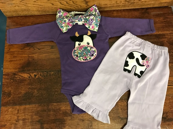 Hippie Cow Baby outfit Hippie Baby Clothes by