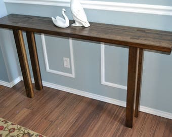 Superb Handmade Wood Entry Table