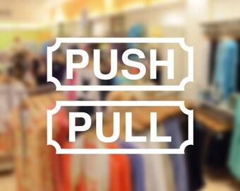 Push Pull decal set