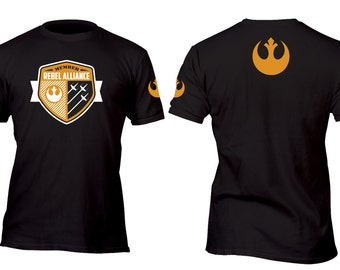 Limited Edition Vintage Member Only Rebel Alliance Black Custom Shirt All sizes up to Plus 5x